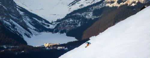 Skiing in Lake Louise