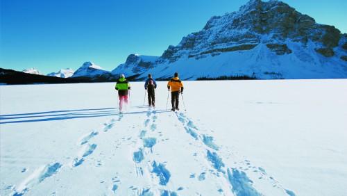Snowshoeing Lake Louise