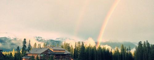 Lake Louise Jobs, Rainbow over Staff Residence