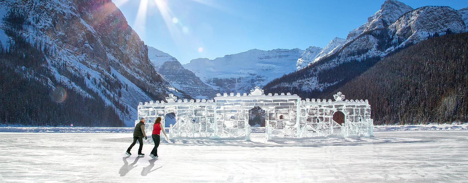 Ice Skating at Lake Louise